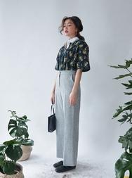 2018新款韩国服装stylenanda品牌复古宽松高腰长裤(2018.1月)