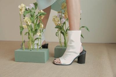1区韩国本土服装代购(韩国圆通直发)stylenanda-时尚百搭高跟短筒靴(2018-04-14上架)