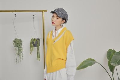 1区韩国本土服装代购(韩国圆通直发)stylenanda-时尚韩版针织马甲(2018-04-18上架)
