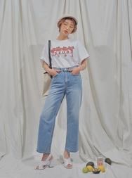2018新款韩国服装stylenanda品牌休闲舒适宽松直筒牛仔裤(2018.3月)