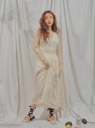 2018新款韩国服装stylenanda品牌休闲百搭蕾丝刺绣连衣裙(2018.3月)