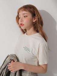 2018新款韩国服装stylenanda品牌休闲舒适字母短袖T恤(2018.3月)