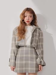 2018新款韩国服装stylenanda品牌休闲百搭格子短夹克(2018.3月)
