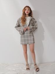 2018新款韩国服装stylenanda品牌休闲百搭格子短裙(2018.3月)