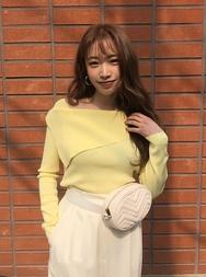 2018新款韩国服装stylenanda品牌休闲个性纯色方领针织衫(2018.3月)