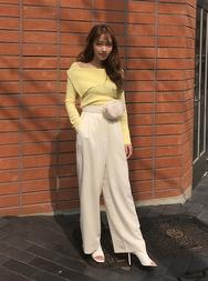 2018新款韩国服装stylenanda品牌时尚韩版纯色阔腿裤(2018.3月)