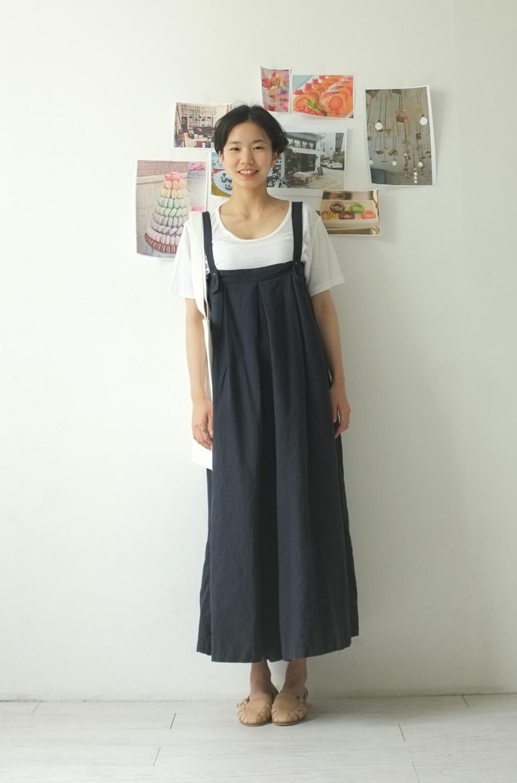 sultang-可爱单色a型宽松连体裤