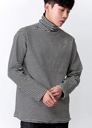 1区2017冬季新款韩国服装theaction品牌韩版条纹秀气舒适T恤(2017.11月)