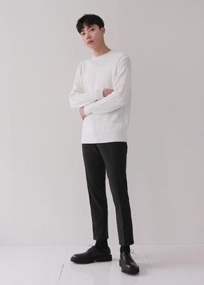 theaction-韩版纯色帅气高档针织衫