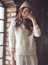 1区韩国代购正品验证tisvin-TVKN00831445-柔软简约纯色半高领针织衫