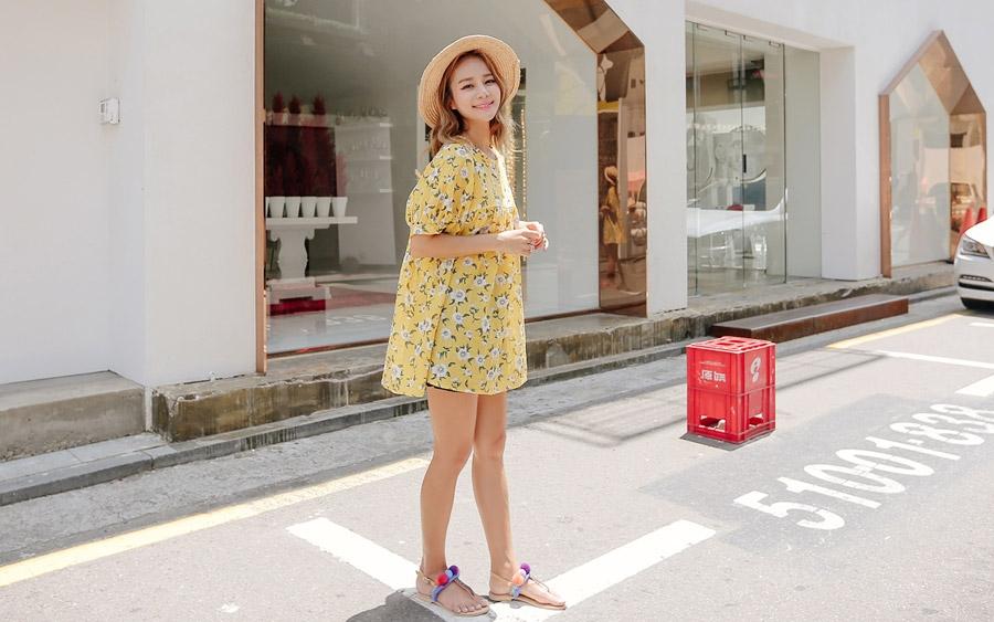 myze-甜美碎花纹宽松短袖衬衫2016年06月23日新款(tvbl01073653)