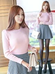 1区韩国代购正品验证tomnrabbit-TRKN00764953-修身显瘦圆领舒适针织衫