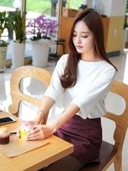 1区韩国服装网店代理一件代发tomnrabbit-TRTS00927184-纯色人气夏季休闲T恤