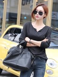 1区韩国服装网店代理一件代发tomnrabbit-TRTS00928121-V领薄款气质舒适T恤