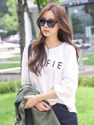 1区韩国服装网店代理一件代发tomnrabbit-TRTS00928665-都市休闲字母舒适T恤