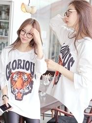1区韩国服装网店代理一件代发tomnrabbit-TRTS00929957-长款帅气老虎魅力T恤