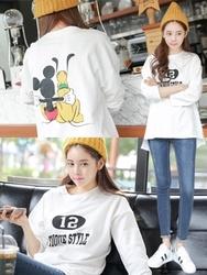 1区韩国服装网店代理一件代发tomnrabbit-TRTS00931000-纯棉长款英伦气质T恤