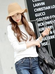 1区韩国服装网店代理一件代发tomnrabbit-TRTS00930987-基本修身弹力长袖T恤