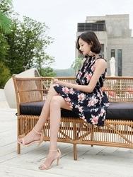 tomnrabbit-韩国时尚魅力气质花纹韩国代购正品连衣裙女装2017年06月20日06月款
