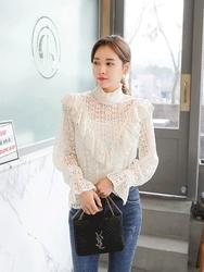 2018新款韩国服装tomnrabbit品牌魅力百搭纯色雪纺衫(2018.1月)