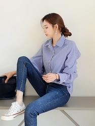 2018新款韩国服装tomnrabbit品牌条纹时尚魅力衬衫(2018.1月)