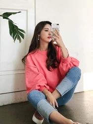 2018新款韩国服装tomnrabbit品牌可爱袖时尚纯色流行卫衣(2018.1月)