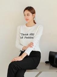 2018新款韩国服装tomnrabbit品牌字母时尚魅力休闲T恤(2018.1月)