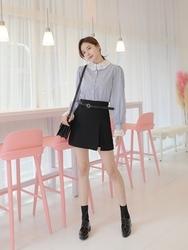 2018新款韩国服装tomnrabbit品牌A字形时尚流行短裙(2018.1月)
