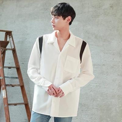 tomonari-简单韩版休闲魅力衬衫