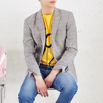 1区韩国本土服装代购(韩国圆通直发)tomonari-条纹时尚西装(本商品非新品请联系客服核对再下单-14上架)