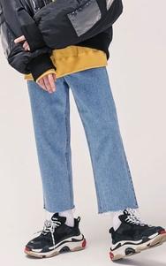 1区2017冬季新款韩国服装tomonari品牌时尚流行宽松牛仔裤(2017.12月)