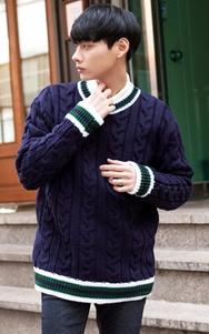 1区2017冬季新款韩国服装tomonari品牌时尚流行魅力针织衫(2017.12月)