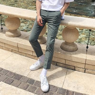 1区韩国本土服装代购(韩国圆通直发)tomonari-韩版夏季修身长裤(2018-07-05上架)
