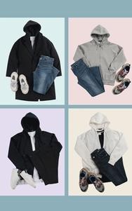 2018新款韩国服装tomonari品牌时尚流行连帽开襟卫衣(2018.1月)