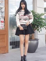 1区韩国代购正品验证uptownholic-UPKN00765137-舒适流行百搭人气必备象牙色针织衫