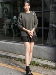 1区韩国代购正品验证uptownholic-UPKN00765139-韩版时尚百搭流行魅力针织衫