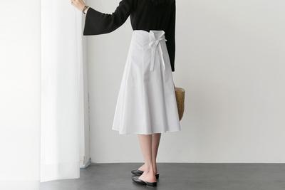 uptownholic-个性韩版系带半身裙
