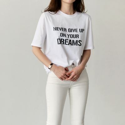 uptownholic-韩版字母时尚休闲T恤