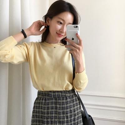 uptownholic-时尚百搭纯色针织衫