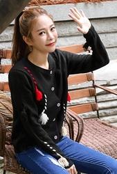 1区韩装网2016韩国服装|韩国代购服装一件代发货源whitefox官网韩国复古配色单排扣开襟衫(2016.8)