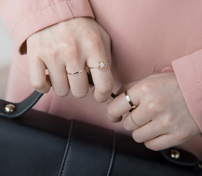whitefox-时尚个性混搭戒指