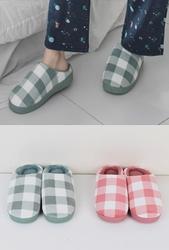 1区2017冬季新款韩国服装whitefox品牌时尚流行格纹拖鞋(2017.12月)