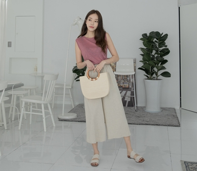 1区韩国本土服装代购(韩国圆通直发)whitefox-韩版流行时尚长裤(2018-04-24上架)