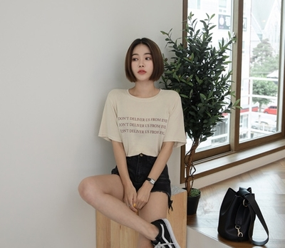 1区韩国本土服装代购(韩国圆通直发)whitefox-T恤(2018-07-14上架)